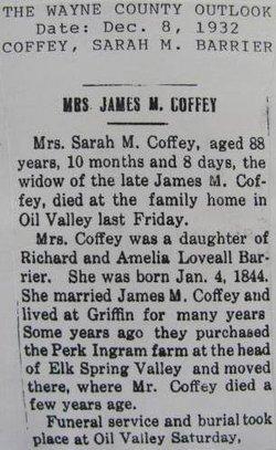 Sarah Margaret <i>Barrier</i> Coffey