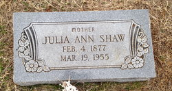 Julia Ann <i>Howard</i> Shaw