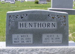 Alice A Henthorn