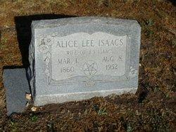 Alice Lee <i>Clark</i> Isaacs