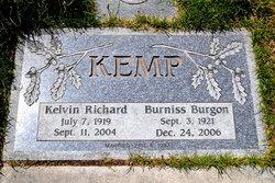 Burniss <i>Burgon</i> Kemp