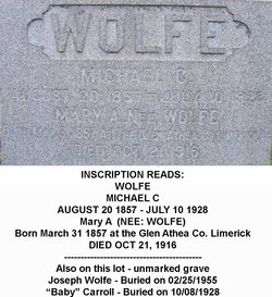 Mary A. <i>Wolfe</i> Wolfe