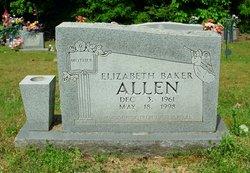 Elizabeth <i>Baker</i> Allen