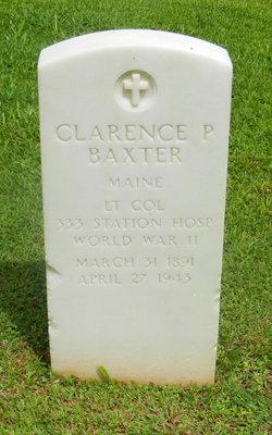 LTC Clarence P. Baxter