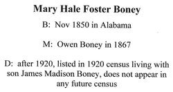 Mary H Boney