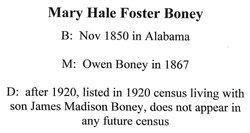Mary H Boney