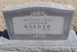 Marjorie Viola <i>Hobson</i> Barber