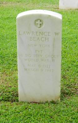 Pvt Lawrence W. Beach