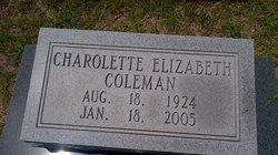 Charolette Elizabeth <i>Moore</i> Coleman