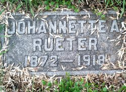 Johannette Annie <i>Schmitt</i> Rueter