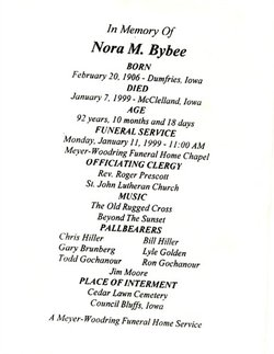 Nora Marne <i>Fox</i> Bybee