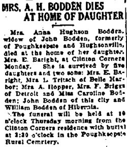 Anna S. <i>Hughson</i> Bodden