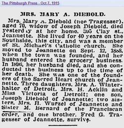 Mary Ann <i>Tragesser</i> Diebold