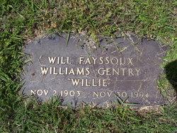 Willie F <i>Williams</i> Gentry