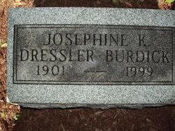 Josephine J <i>Konradt</i> Dressler-Burdick