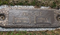 Anna A Bertha <i>Powden</i> McCue