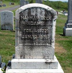 Hannah <i>Beck</i> Adams