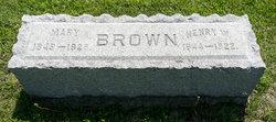 Mary <i>Clark</i> Brown