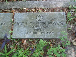 Ruth <i>Chaplin</i> Brown