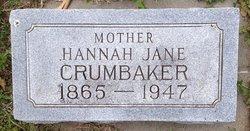 Mrs Hannah Jane Crumbaker