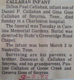 Dillon Paul Callahan