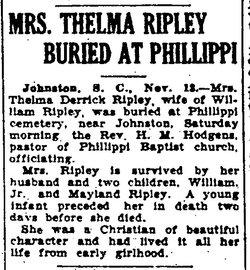 Emma Thelma <i>Derrick</i> Ripley