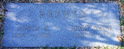 Mary Alice Alice <i>Wells</i> Brewer