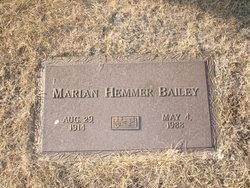 Marian <i>Peek</i> Hemmer Bailey