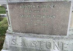 Sarah A. <i>Stimpson</i> Stone