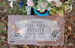 Gladys Faye <i>Paul</i> Bryant