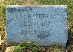 Anne Elizabeth <i>Wilburn</i> Baker