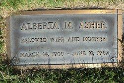 Alberta M <i>Shaw</i> Asher