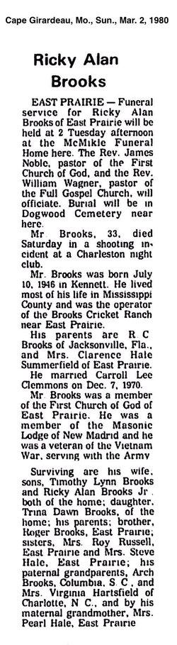 Ricky A Brooks