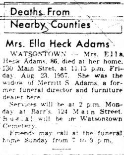 Ella <i>Heck</i> Adams