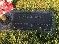 Nannie K Kate <i>Morgan</i> Bireley