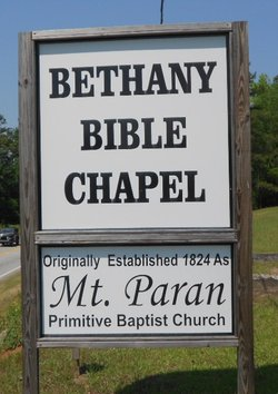 Mount Paran Primitive Baptist Church Cemetery