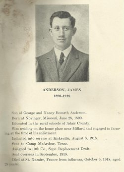 Pvt James Anderson