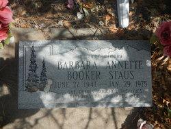Barbara Annette <i>Booker</i> Staus