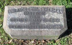 Philadelphia Sherman Hallock