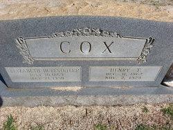 Elizabeth <i>Huffstetler</i> Cox