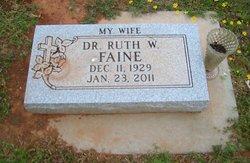 Dr Ruth <i>Ward</i> Faine