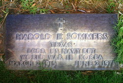 LCDR Harold Edgar Slim Sommers