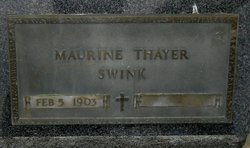 Maurine Grace <i>Thayer</i> Swink