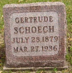 Gertrude <i>Barnes</i> Schoech