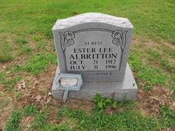 Ester <i>Lee</i> Albritton