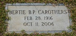 Bertie Biggers <i>Parks</i> Carothers