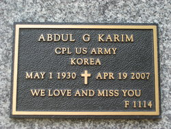Abdul G Karim