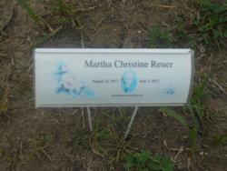 Martha Christine <i>Heyne</i> Reuer