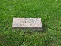 Carrie W <i>Hutchinson</i> Applegate