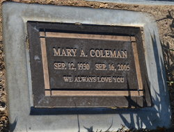 Mary A Coleman